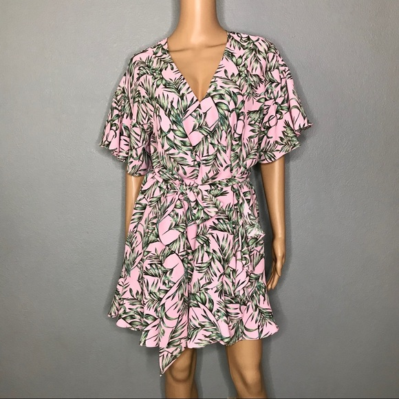 Sugarlips Dresses & Skirts - Floral wrap mini dress by Sugarlips